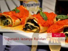 Ispanaklı Lazanya Ruloları