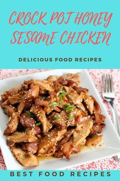 Slow Cooker Recipes, Crockpot Recipes, Cooking Recipes, Healthy Recipes, Slow Cooking, Chicken Thigh Recipes, Chicken Salad Recipes, Chicken Meals, Honey Sesame Chicken