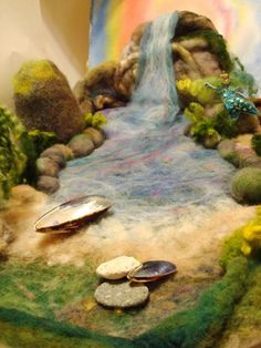 Needle Felted Mermaid Lagoon - WaterFall