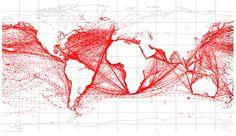 One million AIS (ship tracking) data points.