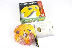 Official Boxed Yellow Controller for the Nintendo 64, N64, MINT