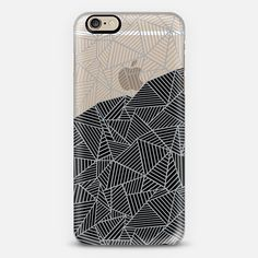 Ab 2R Grey and Black Transparent - New Standard Case #black #grey #abstract…