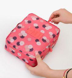 Cosmetic Bags Cases  Make up organizer bag 22cm x18cm x8cm  Women Men Casual travel multi functional Cosmetic Bag storage waterproof bag -- Clique no botão VISITAR para entrar no site