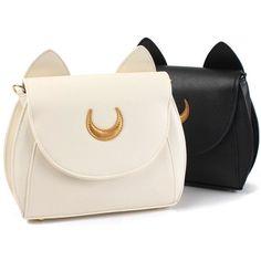 $16.67 Women Sweet Moon Print Ear Pattern Design Crossbody Bag Shoulder Bag Cute Bags