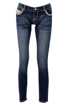 Pleather  Pocket Skinny Jean                                                                         front view