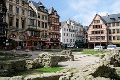 Joan of Arc was burned at the stake at this site, Joan d'Arc Square, in Rouen, France.