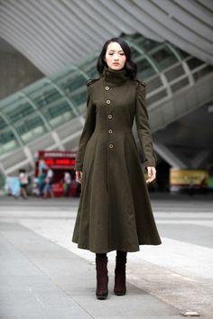joli manteau vert zara long pour les femmes modernes
