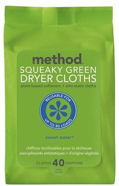 Method Dryer Sheets - Sweet Water ** most of the time you can re-use them 3 times unless you have a husband in construction lol