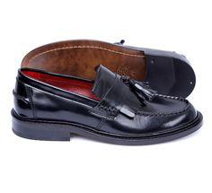 Shoes Men's Loafers Rude Boy Black Mod Suedehead Delicious Junction