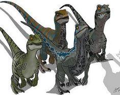 Jurassic Park Raptor, Jurassic Park Poster, Jurassic Park Trilogy, Blue Jurassic World, Jurassic World Fallen Kingdom, Dinosaur Drawing, Dinosaur Art, Dino Park, Michael Crichton