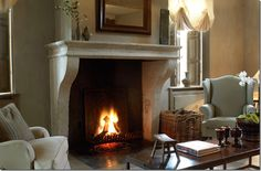cool fireplace with warming feature