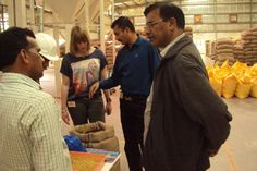 They were accompanied by S R M Prasad, GM-SCM & Sri Ch Nageswara Rao, AGM-P&P, who explained all the seed processing activities like Cleaning, drying, Seed testing, chemical treatment and packing.