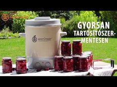 Mézes cseresznyebefőtt I Befőzőautomatával - YouTube Ketchup, Youtube, Meal, Youtubers