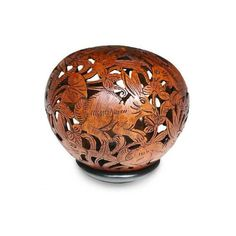 NOVICA Unique Coconut Shell Sculpture ($55) ❤ liked on Polyvore featuring home, home decor, art gallery, brown, sculpture, wood - asian culture, rabbit sculpture, asian sculptures, bunny home decor and asian home decor