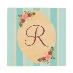 Floral bouquet Coaster - stripes gifts cyo unique style
