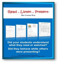 ESL / English / French / Spanish + All Subjects - Read or Listen or PresentDear…