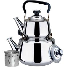 Stainless Steel Double Tea Kettle #WLA037