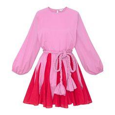 Ella Dress   Prism Pink Colorblock – RHODE