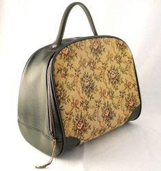 Vintage Needlepoint FloralEmbroidered Satchel Bowler by Trezchic, $18.00 Would be great to carry sewing supplies.