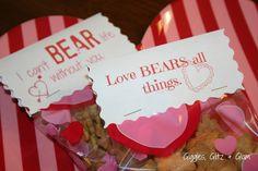 Giggles, Glitz & Glam: Bear Valentines