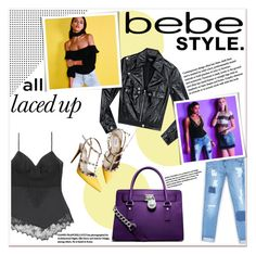 """All Laced Up for Spring with bebe: Contest Entry"" by georginamaybrown ❤ liked on Polyvore featuring Bebe, MICHAEL Michael Kors, Valentino and alllacedup"