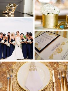 Gold, Navy and Ivory