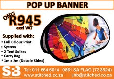Call us today for an obligation free quote. Visit our website for more amazing deals! #stitchedsa #stitched #banners #flags #bestprice #printing #sublimation #bannerprinting #flagprinting #sublimationprinting #displays #outdoordisplays #indoordisplays #branding #corporatebranding #flagdesig #bannerdesign #graphicdesign #display #bannerdisplay #advertising #brandmarketing #marketing #popup #popupbanner #popupbannerprinting #popupbanners #popupbannerdesign