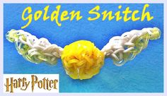 Harry potter loom band charm tutorial loom pinterest loom band rainbow loom golden snitch harry potter charm how to make with loom bands fandeluxe Images