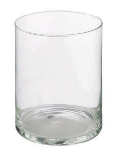 Glas-Vase Zylinder, 20 x 15 cm