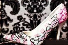 Graffiti wedding shoes