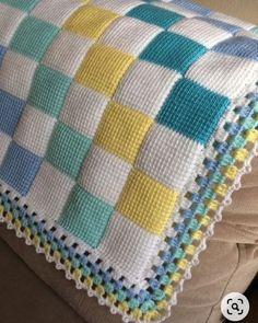 Crochet Shawl Diagram, Tunisian Crochet Patterns, Chunky Knitting Patterns, Granny Square Crochet Pattern, Baby Hats Knitting, Knitting Stitches, Bobble Stitch Crochet Blanket, Baby Blanket Crochet, Crochet Baby