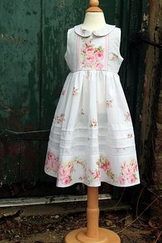 Sweet dress from repurposed vintage sheet