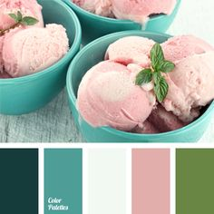 Blue Color Palettes, celadon, color matching, color of cherry ice cream, color of green mint, dark turquoise, gentle colors, gentle tones, green color, light blue, Pink Color Palettes, purple, shades of blue, turquoise.