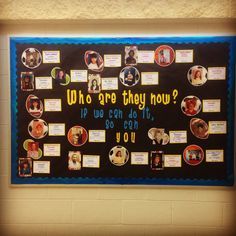 Our Career Bulletin Board. We asked our teachers and staff to submit their middle school pictures with their first career choice in middle school and what schools they attended. Our students were engaged with the board. Elementary School Counseling, School Social Work, Career Counseling, School Staff, School Counselor, Elementary Schools, Hallway Bulletin Boards, Counseling Bulletin Boards, School Leadership