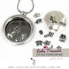 Confira nossa Linha Treasure em Prata de lei no site da Cupido Lovestore. #linhatreasure #charms #capsula #pingentes compatíveis com #lifesecrets da #vivara