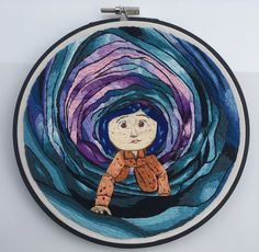Here is my Coraline i did a few months ago : Embroidery Diy Embroidery Patterns, Hand Embroidery Projects, Simple Embroidery, Embroidery Stitches Tutorial, Hand Embroidery Patterns, Crystal Embroidery, Cross Stitching, Cross Stitch Embroidery, Sewing Art