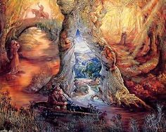 """Willow World (zoom 1)"" par Josephine Wall"