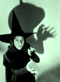 Margaret Hamilton in publicity still for The Wizard of Oz (1939, dir. Victor Fleming)