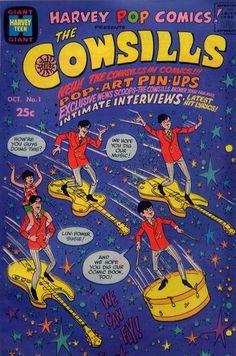 Harvey Pop Comics #1 (October 1968) featuring The Cowsills