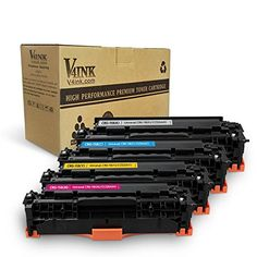 V4INK 4 Packs New Replacement for Canon 118 toner HP CC530A HP 304A Toner Cartridge for use with Canon ImageCLASS MF726Cdw LBP7660Cdn MF8580CDW MF8380Cdw, HP Color LaserJet CP2025dn CM2320fxi