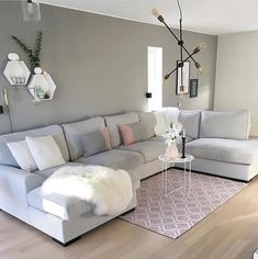 Lost Secret Of Shabby Chic Living Room 76 Blush Living Room, Pastel Living Room, Shabby Chic Living Room, Living Room Grey, Rugs In Living Room, Living Room Interior, Living Room Designs, Living Room Furniture, Living Room Decor