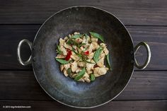 Spicy Thai Stir Fry Chicken With Basil - Free Paleo Recipes and More. Get the recipe at BigChinKitchen.com