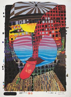 Hundertwasser lithographs and prints