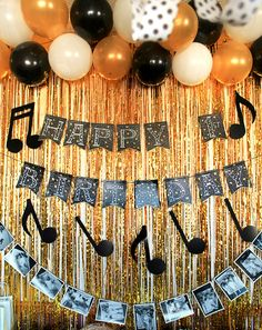 Black, Gold and White Music Themed First Birthday Party | Evermine Blog | www.evermine.com