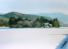 Watercolor painting by Japanese Abe Toshiyuki