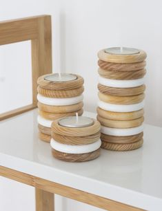 DIY Wooden Tea Light Candle Holder from Curtain Rings - Gorilla Wood Glue - Easy crafts wood crafts crafts design crafts diy crafts furniture crafts ideas Curtain Rings Crafts, Curtains With Rings, Diy Wooden Projects, Wood Crafts, Craft Projects, Craft Ideas, Wooden Decor, Wooden Diy, Wooden Rings Craft
