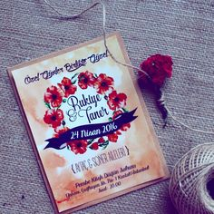 Davetiye / Wedding invitation / Wedding bouqets
