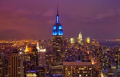 Beautiful View of NYC and the Empire State Building...can't believe I've never been to new York