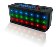 SHARPER IMAGE SBT609BK Custom Sound Bluetooth Speaker With Dancing LED Lights Builtin Mic and 35mm Jack ** Continue to the product at the image link.