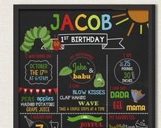 The Very Hungry Caterpillar Birthday by BaileyBunchInvites on Etsy